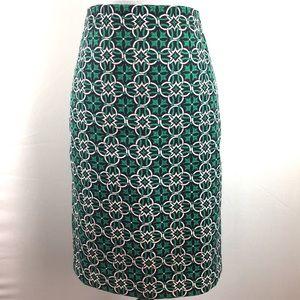 Green pencil J.Crew skirt size 2